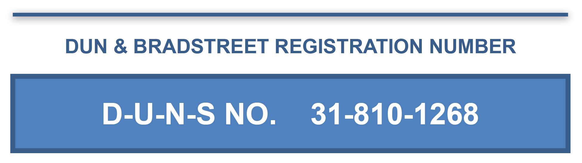 DUN & BRADSTREET REGISTRATION NUMBER